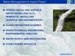 water management hydro power