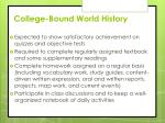 college bound world history