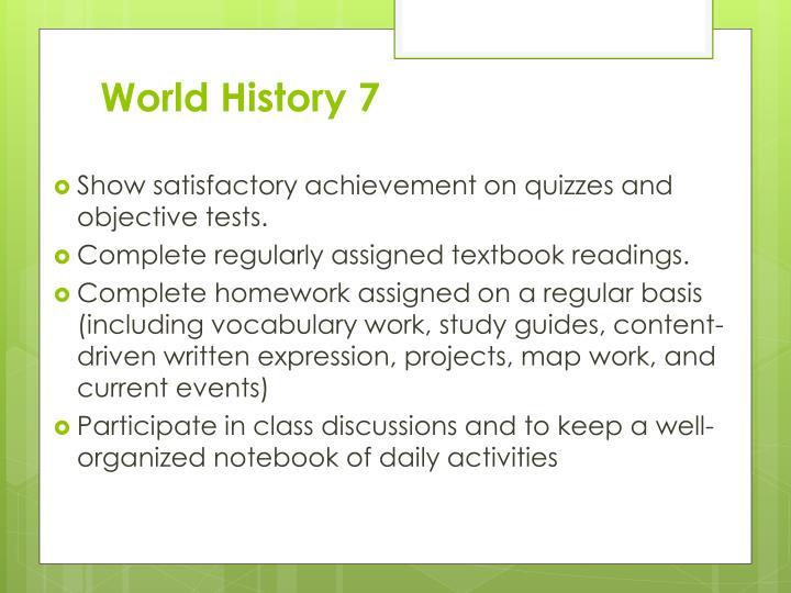 World History 7