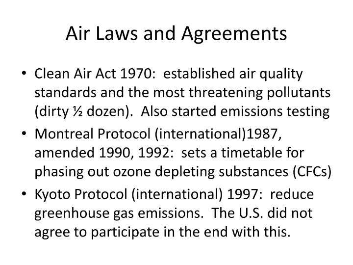 Air Laws and Agreements