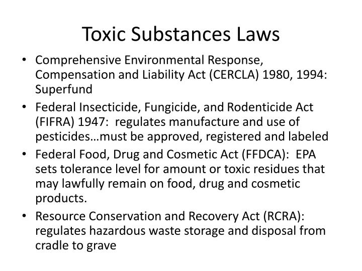 Toxic Substances Laws