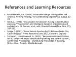 references and learning resources