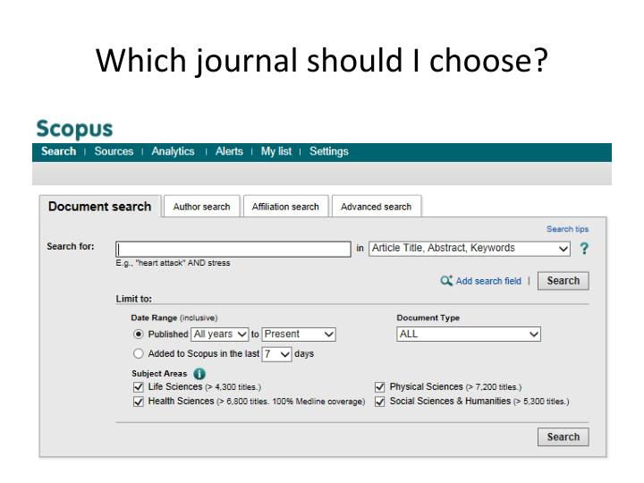 Which journal should I choose?