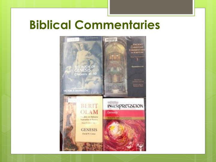 Biblical Commentaries