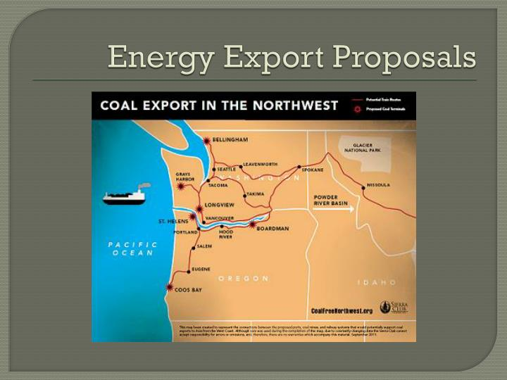 Energy Export Proposals