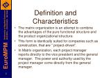 definition and characteristics
