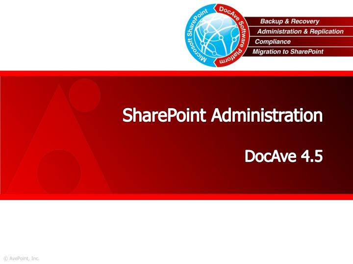 SharePoint Administration