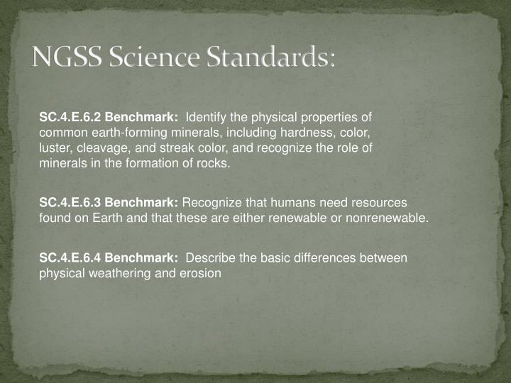 NGSS Science Standards: