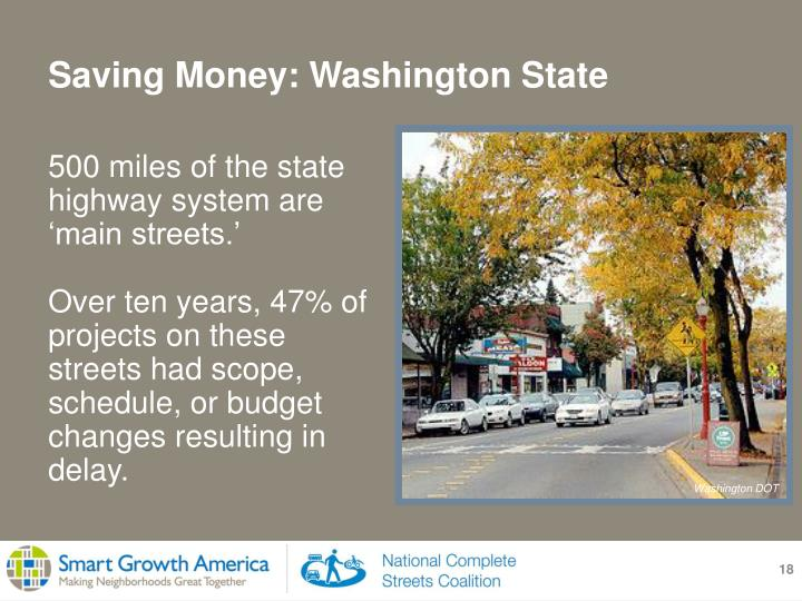 500 miles of the state highway system are 'main streets.'