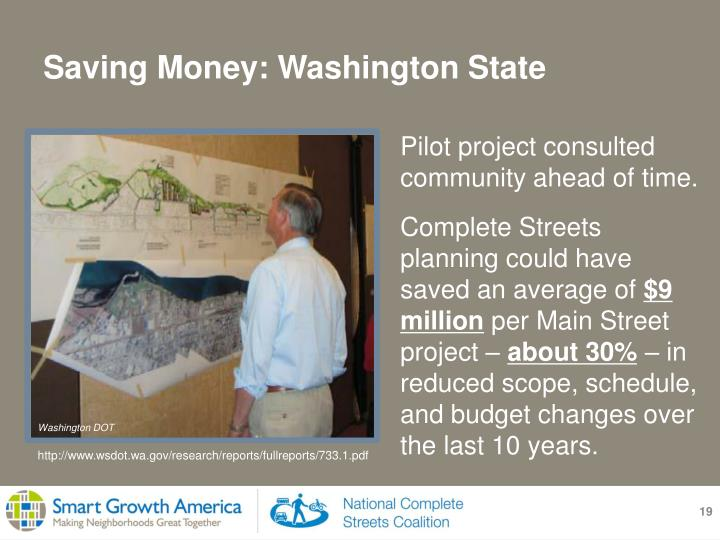 Pilot project consulted  community ahead of time.