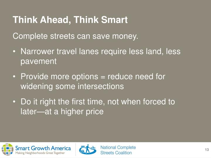 Complete streets can save money.