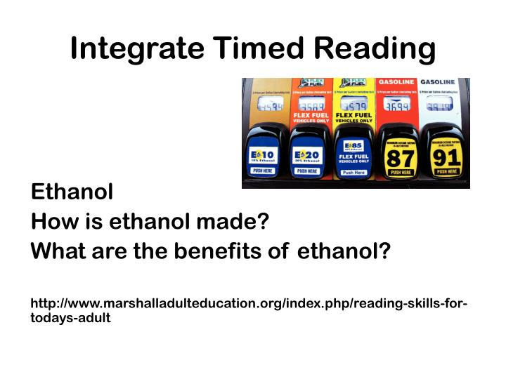 Integrate Timed Reading