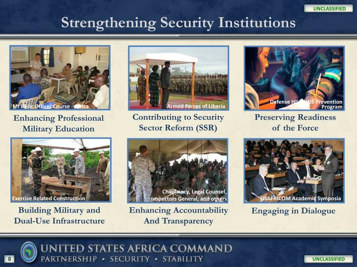 Strengthening Security Institutions