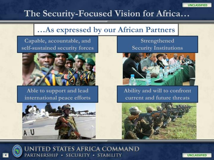 The Security-Focused Vision for Africa…