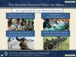 the security focused vision for africa