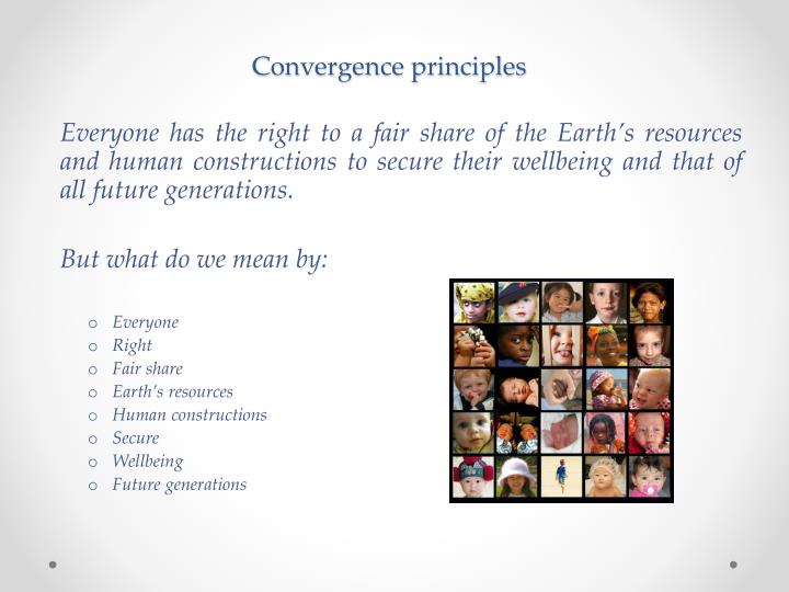 Convergence principles