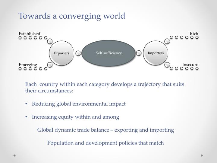 Towards a converging world