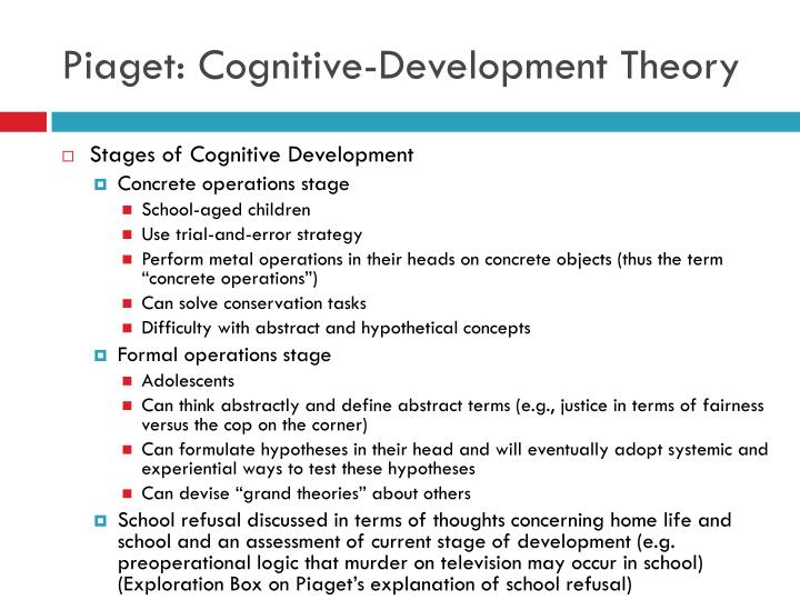 piaget s theory of development and special needs Special needs accommodation the middle childhood development article discusses piaget's theory with respect kohlberg's theory of moral development has.