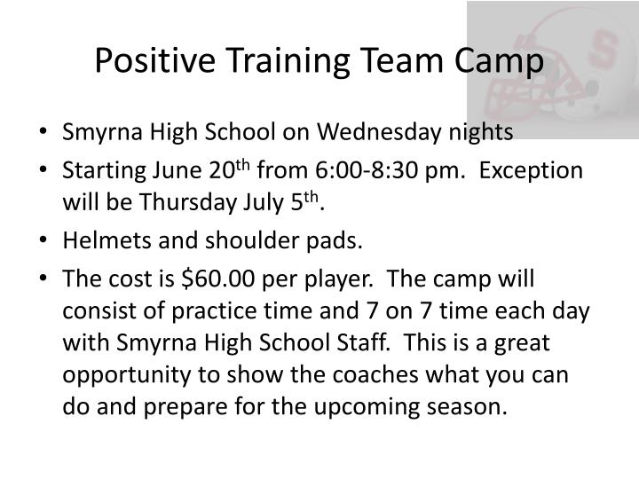 Positive Training Team Camp