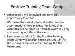 positive training team camp2