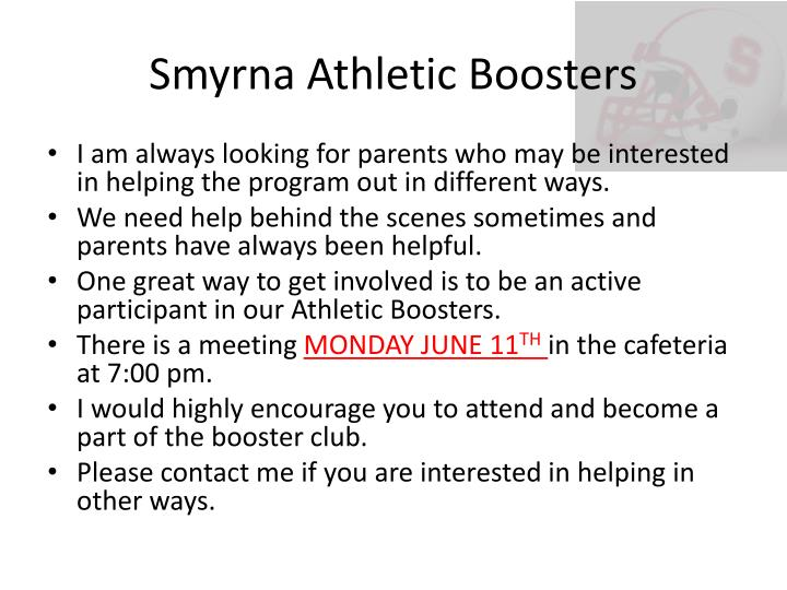Smyrna Athletic Boosters