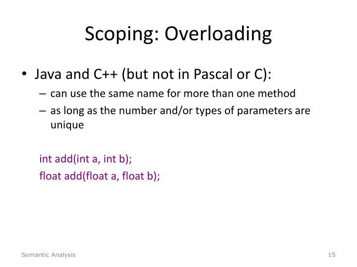 Scoping: Overloading
