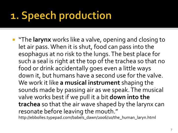 1. Speech production