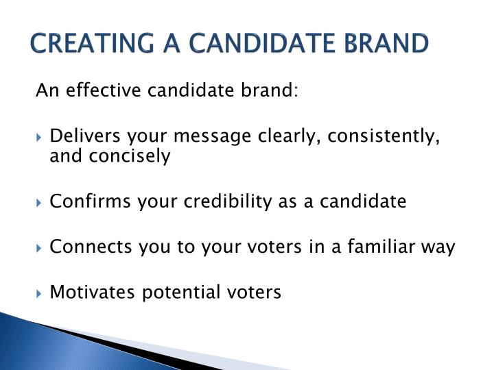 CREATING A CANDIDATE