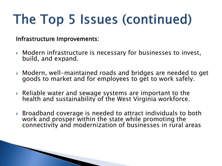 The Top 5 Issues (continued)
