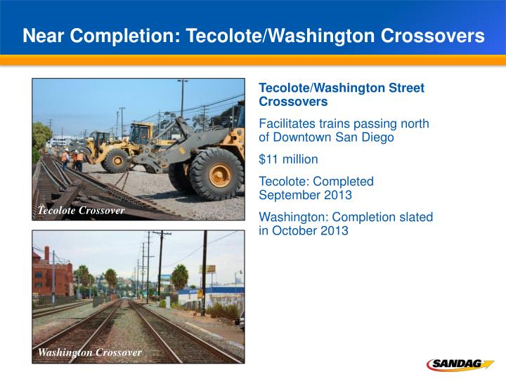 Near Completion: Tecolote/Washington Crossovers