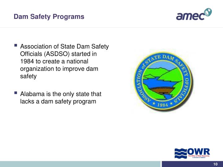 Dam Safety Programs