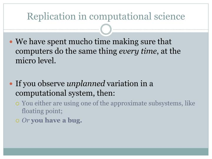 Replication in computational science
