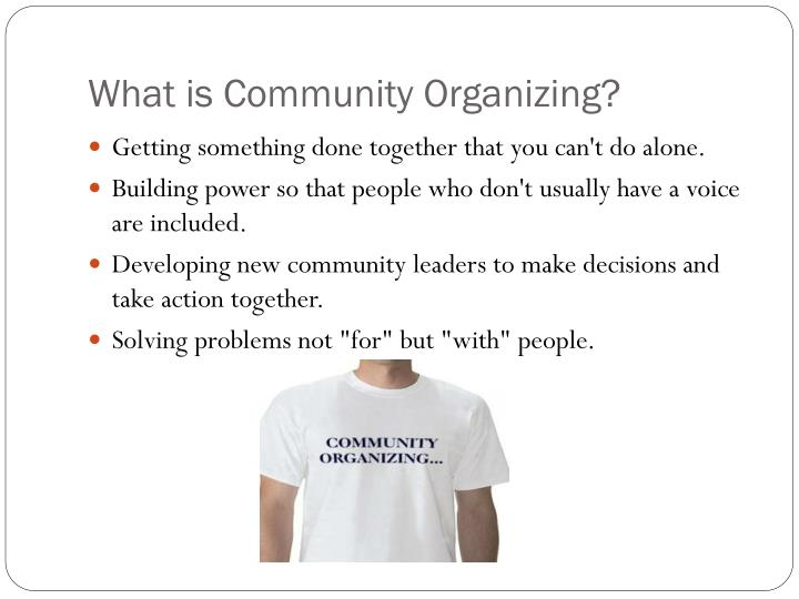 What is community organizing