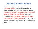 meaning of development