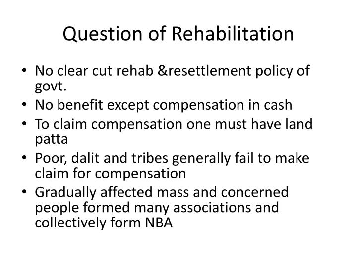 Question of Rehabilitation