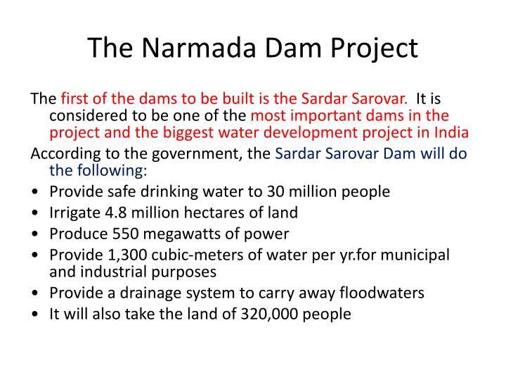 The Narmada Dam Project