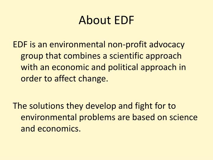 About EDF
