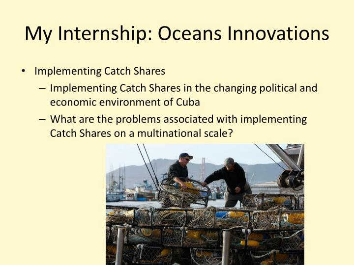 My Internship: Oceans Innovations