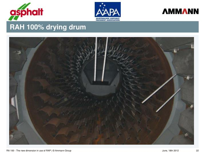RAH 100% drying drum