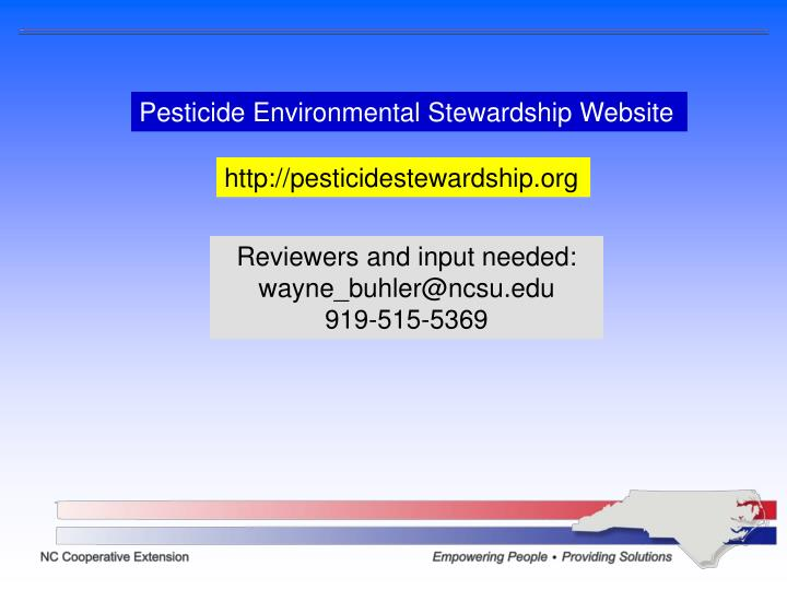 Pesticide Environmental Stewardship Website