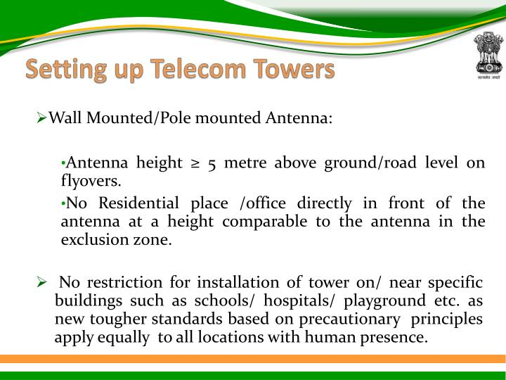 Setting up Telecom Towers