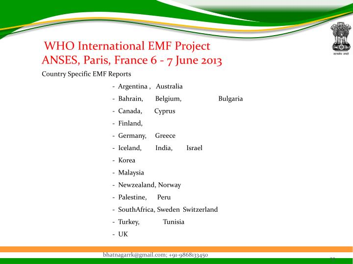 WHO International EMF Project