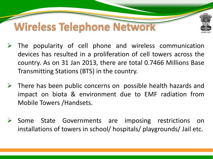 Wireless telephone network