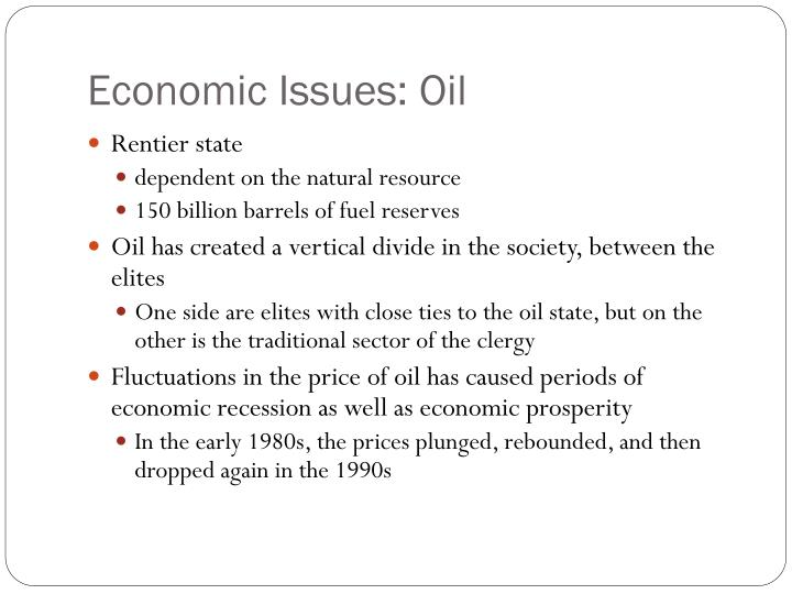 Economic Issues: Oil