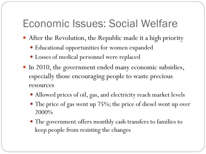 Economic Issues: Social Welfare