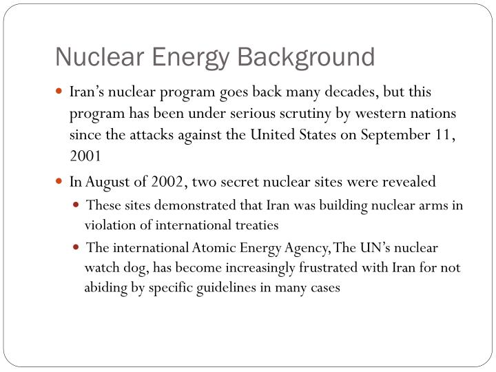Nuclear Energy Background