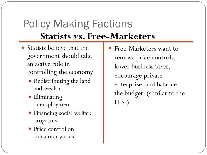 Policy Making Factions