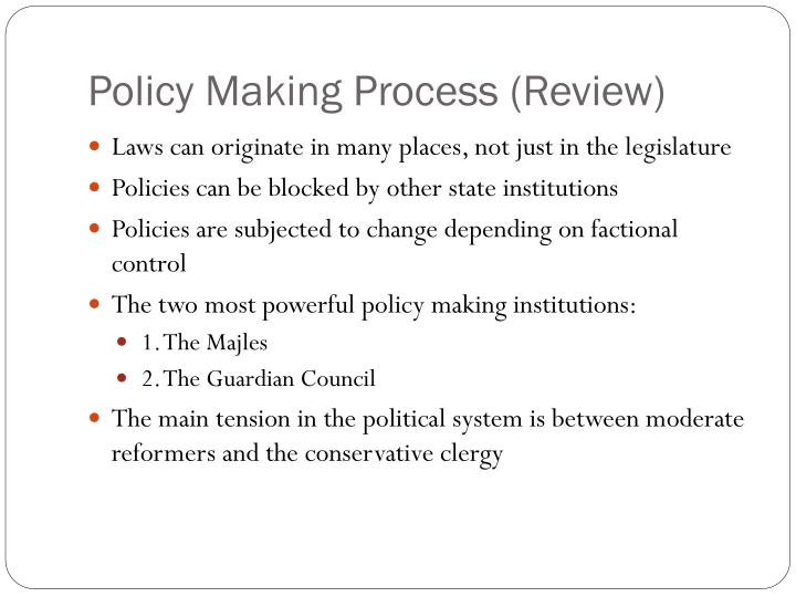 Policy making process review