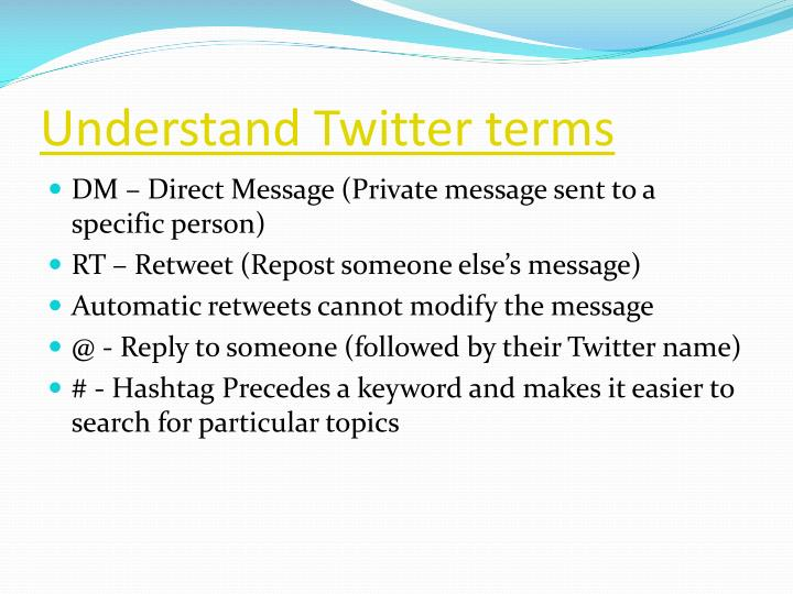 Understand Twitter terms