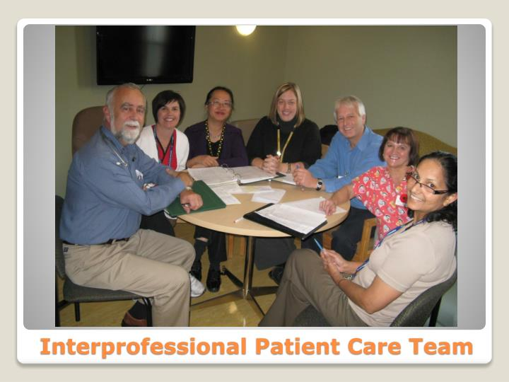 Interprofessional Patient Care Team